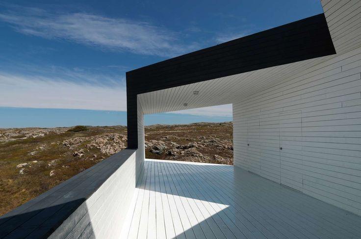 Fogo Island Artist Studios_Saunders Architecture  exterior finishes, expression cladding, facades, horizontal cladding.