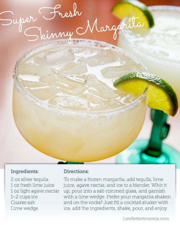 """I'm feeling like a want a Skinny Margarita at the end of this busy day. #recipe  Does """"skinny"""" mean I can have two?"""