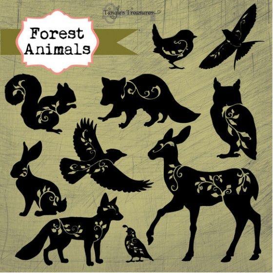 Forest Animals Silhouettes Tattoos Pinterest Dibujos