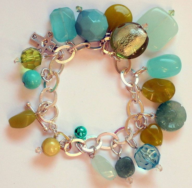 jade swarovski chunky charm bracelet one left by clutch and clasp   notonthehighstreet.com
