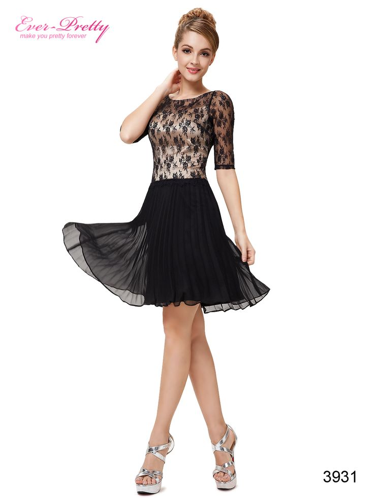 Half Sleeve Back V Neck Halter Short Party Dress
