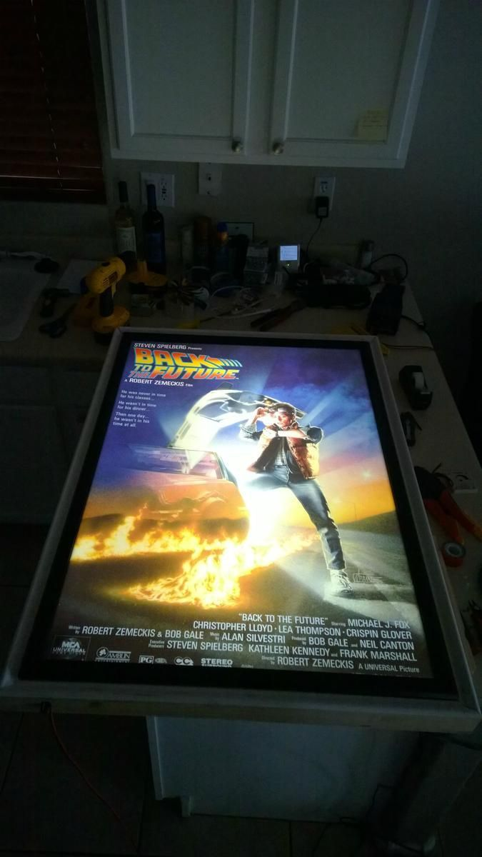 Make your very own back lit movie poster frame with LED light strips! Tubular!