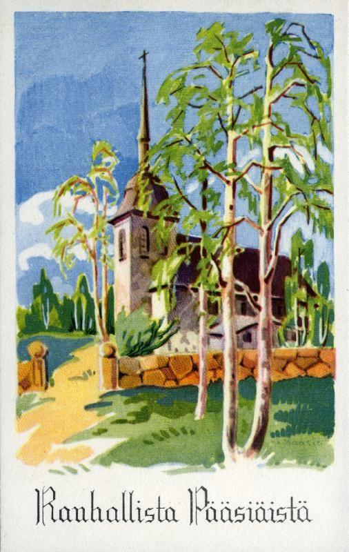 Rauhallista pääsiäistä! #pääsiäinen #kortit #kirkot
