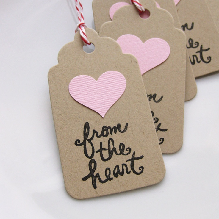 Heart+Gift+Tags+From+the+Heart+Tag++Set+of+8+by+FreshLemonBlossoms,+$4.95