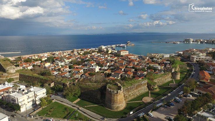 Chios castle Drone Travel