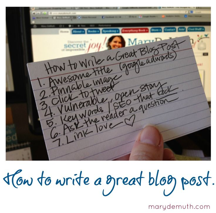 How to Write a Great Blog Post   Mary DeMuthMary DeMuth