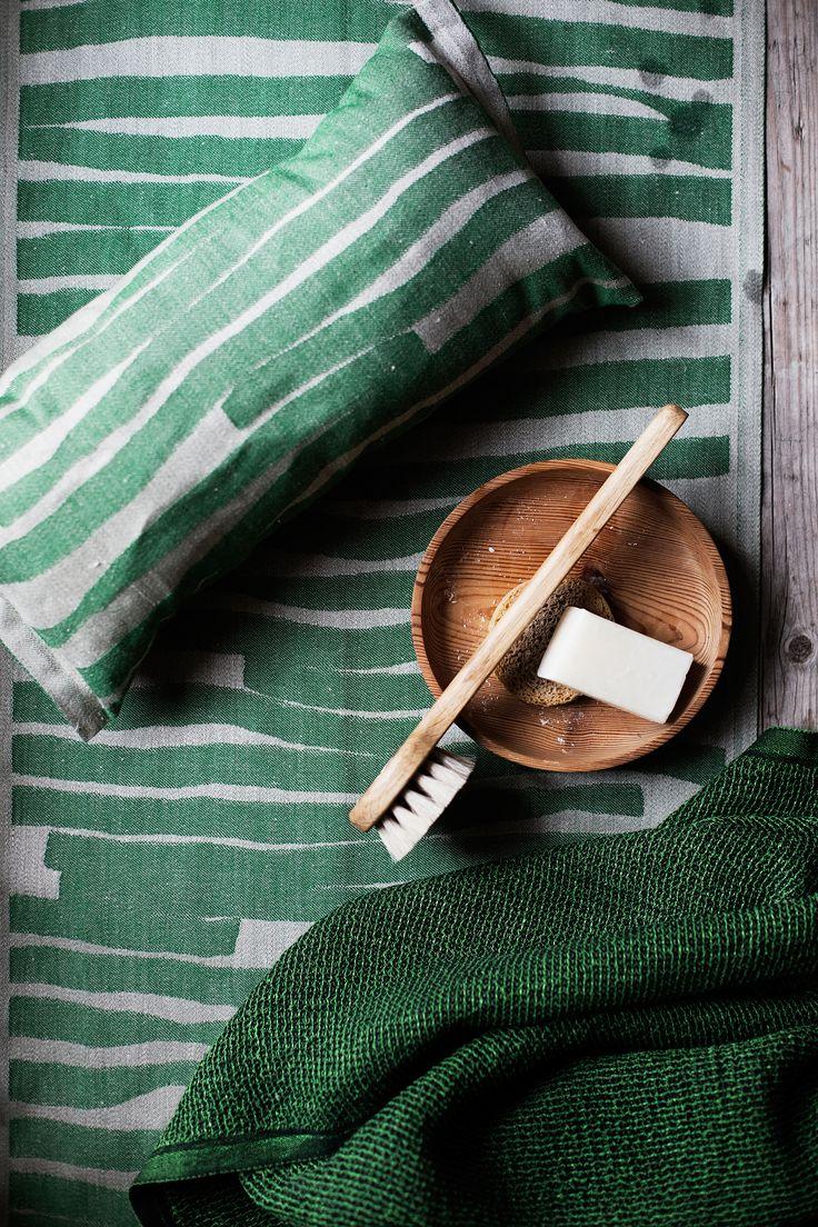 TWISTI sauna textiles, design Reeta Ek