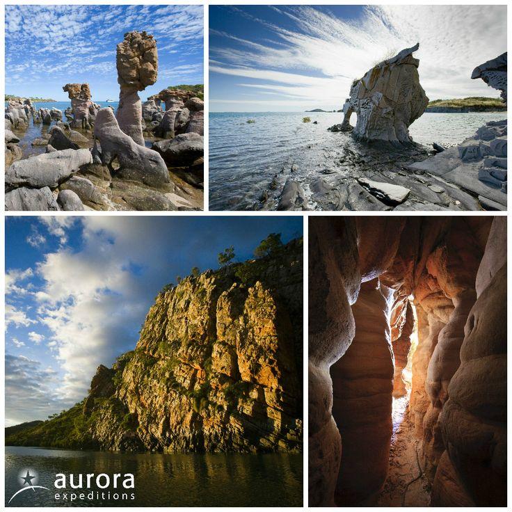 From sandstone cliffs to basalt intrusions, the #Kimberley coastline is a true unique mix of geology marvels! #kimberleybucketlist