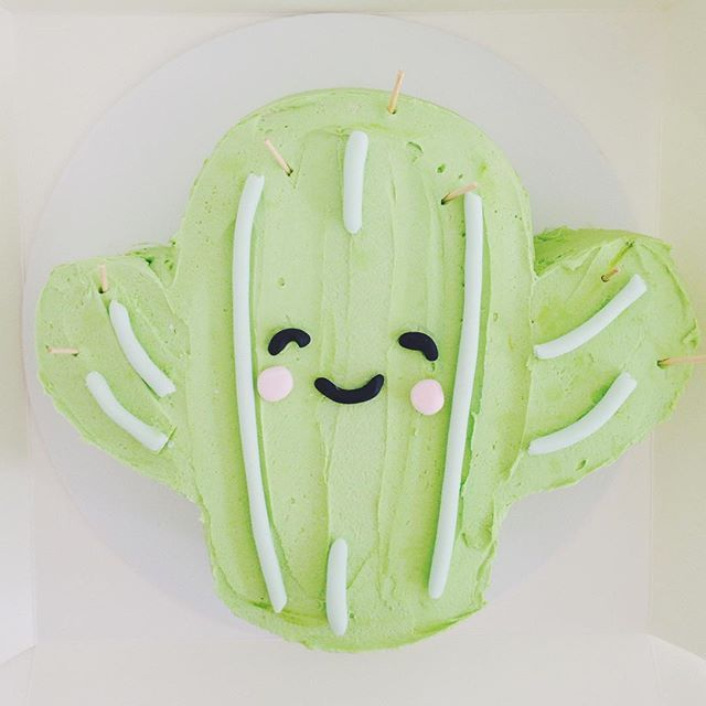 a 2d version of my little cactus cake!  #hellonaomibuttercream | Use Instagram online! Websta is the Best Instagram Web Viewer!