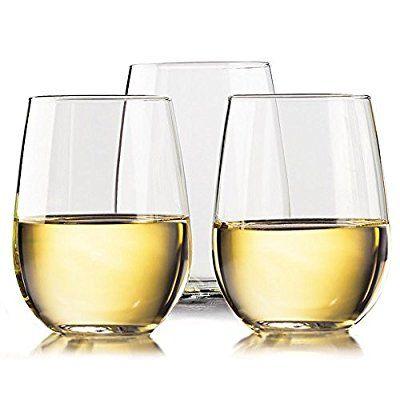 Unbreakable Wine glasses by TaZa - 100% Tritan Dishwasher-safe, shatterproof plastic wine glasses - Smooth Rims -Set of 4 - 16 oz