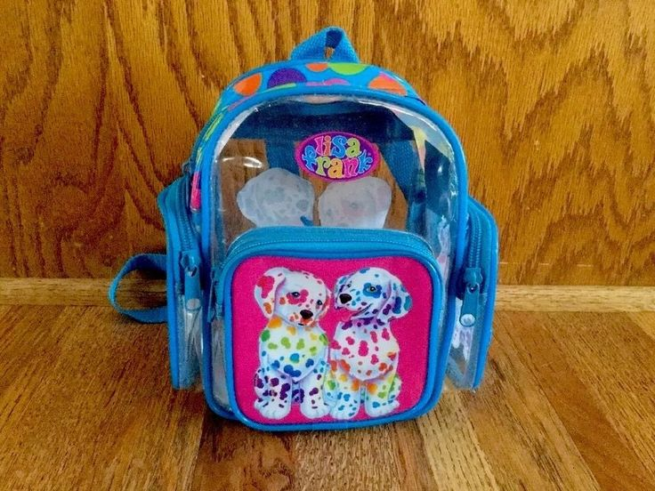 "This is a very cute Vintage Lisa Frank Mini Backpack Painting Dalmatian Dogs. I think their names are Spotty & Dotty. This is the mini backpack. It measures approximately 8"" tall X 7 1/2"" wide. Has a total of 4 zippered sections. Very nice preowned condition. Very colorful! Most of my items are from my family, grandkids or my daughters. From a clean, smoke & pet free environment. Fast Shipping. I will carefully and quickly pack and ship your item as soon as payment is r..."