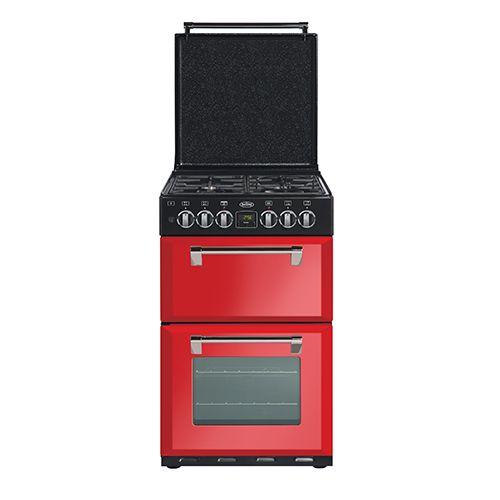 Mini Richmond 54 dual fuel range cooker - Red #Belling #UKmade #madeinBritian #British #cooker