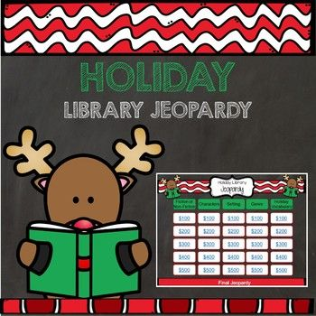 Holiday Library Jeopardy is an easy way to review library information while having fun! A great way to reinforce media center skills and encourage discussion about reading, this interactive game includes 25 questions and answers in the following five categories: Fiction or