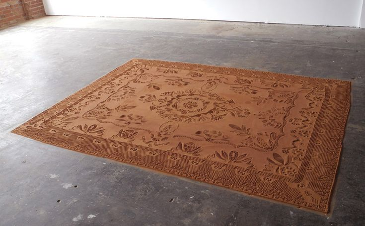 <p>Artist Rena Detrixhe works a lot with materials gathered into the wild, depicting herself as a material hunter. In 'Red Dirt Rug', Detrixhe wants to express how human presence can change surroundin