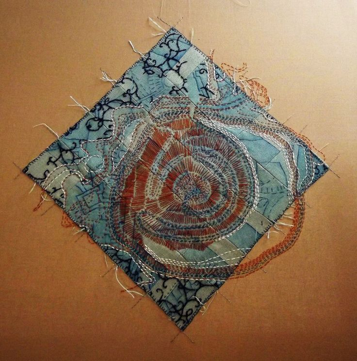 501 best fabric and thread art images on pinterest for Hand thread painting tutorial