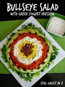 Bullseye Salad - Not only is this Bullseye Salad gorgeous, it is healthy and super delicious too. Feel Great in 8