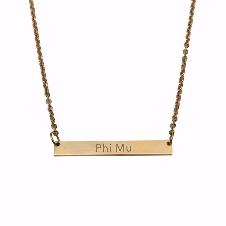 """Size & Materials Closure: lobster clasp Materials: plated base metal Measurements: chain length: 18"""", bar length: 1.5"""""""