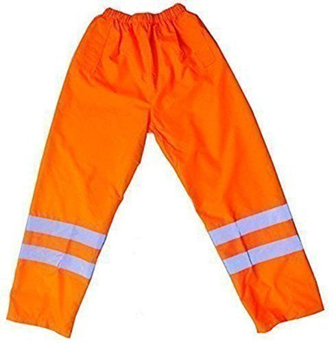 From 6.65 Hi Viz Orange Over Trousers Waterproof Pants Reflective Tape Work Railway Elasticated Waist High Vis Safety Workwear Security Road Works Hi Vis Fluorescent Flashing En471 Orange M (32-34'')