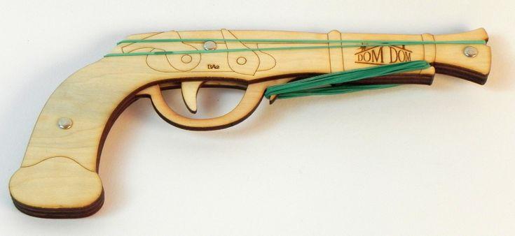 Pistolky na gumičky | Bambitka | DomDom - dřevěné výrobky pro kreativní činnost, didaktické pomůcky, suvenýry