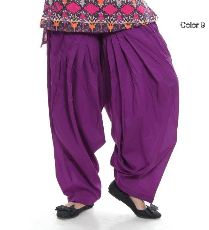 Indian Cotton Patiala Salwar with Dupatta Match with Kurti Kameez Top (Purple) | eBay