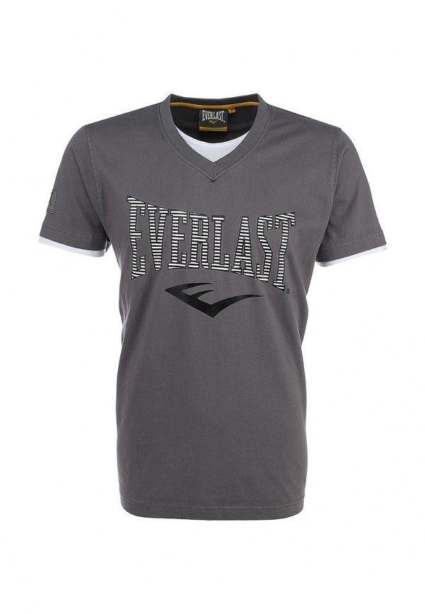 Футболка Everlast V Neck Футболка Everlast. Цвет серый.  Сезон Весна-лето 2016. Одежда, обувь и аксессуары/Мужская одежда/Одежда для спорта/Футболки