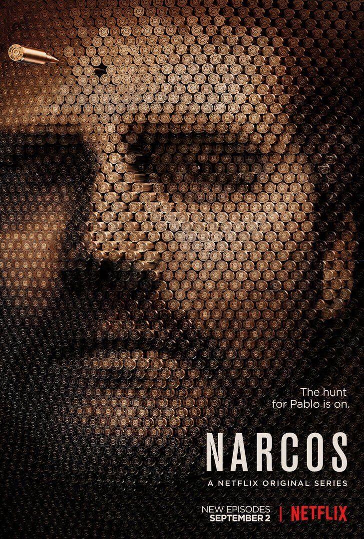 L'affiche de la S02 de Narcos.