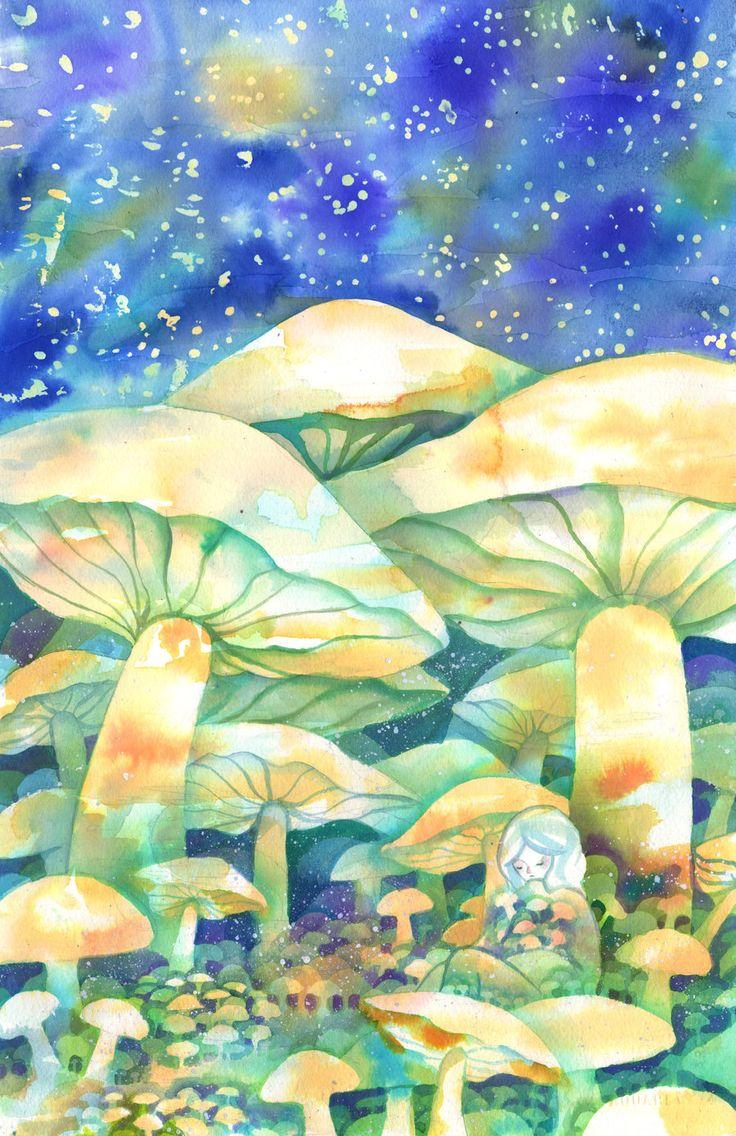 256 best 1 Mushroom Magic...Art/ill. images on Pinterest   Fungi ...