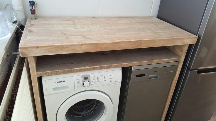 Wasmachine ombouw Www.rbhoutwerk.nl