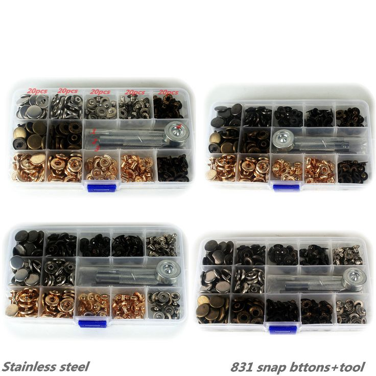 Wholesale 831 snap buttons +tool  Metal Press Studs Sewing Button Snap Fasteners Sewing Leather Craft Clothes Bags