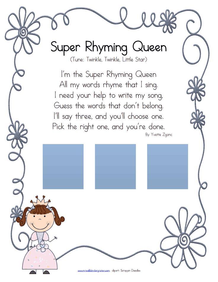 super rhyming queen.pdf Phonological awareness