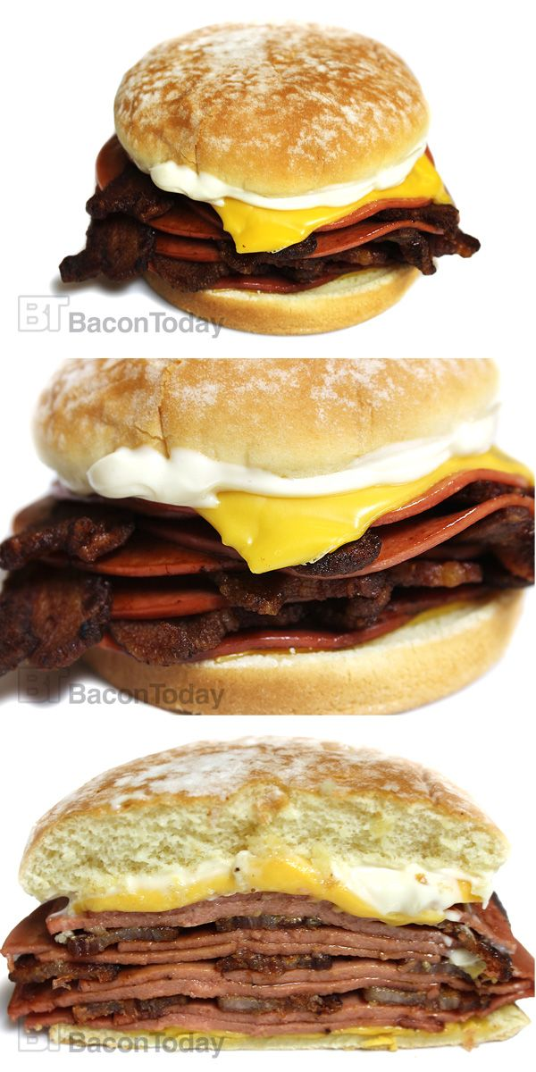 Fried bologna and bacon sammich.