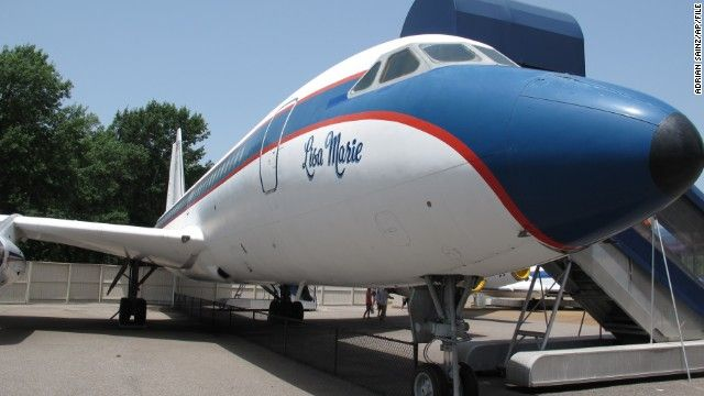 "(CNN) -- Elvis Presley's last two jets, the ""Lisa Marie"" and ""Hound Dog II,"" are for sale."
