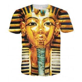 FARAON Koszulka T-Shirt Full Print 3D Krótki Rękaw