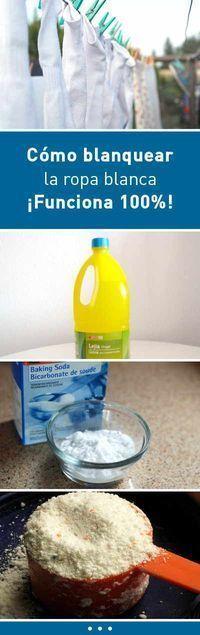 Cómo blanquear la ropa blanca #blancear #ropa #lavar #lavadora #DIY #tips