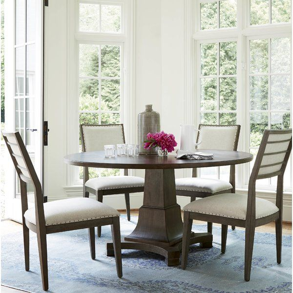 Allister Solid Wood Dining Table Round Dining Room Sets Dining