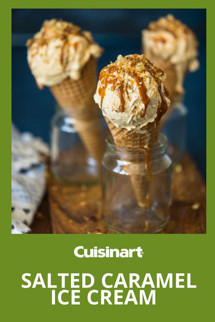 Fruit Scoop Frozen Dessert Maker Attachment Salted Caramel Ice Cream Cuisinart Ice Cream Recipes Caramelized Walnuts