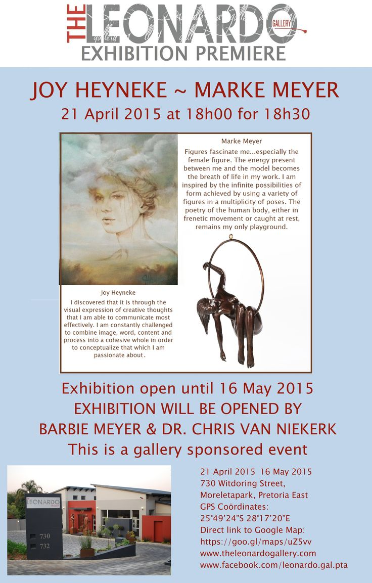 Exhibition Premiere of the artworks of Marke Meyer and Joy Heyneke.