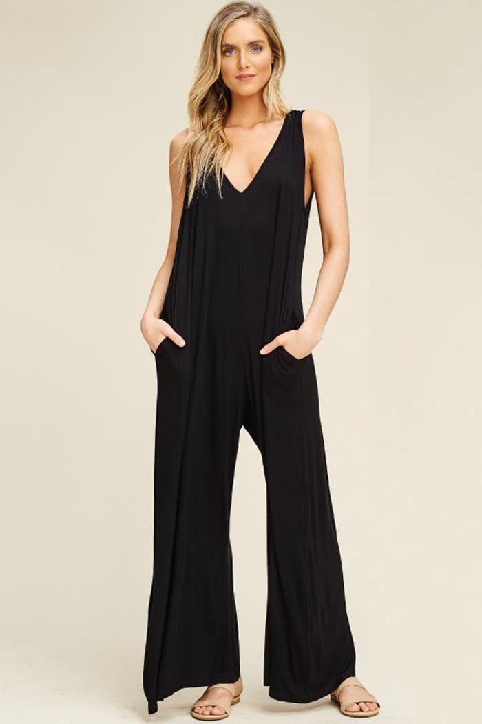 641e4a11bdb Ariana Hooded Jumpsuits   Black – GOZON Boutique