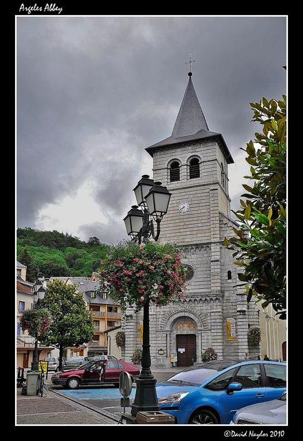 Argeles Abbey Local parish church at Argeles Gazost, Hautes-Pyrenees, France.