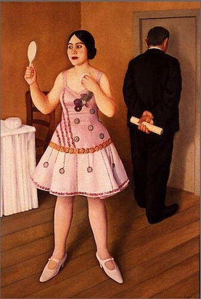 Antonio Donghi. La Canzonettista, 1925.   WikiArt.org
