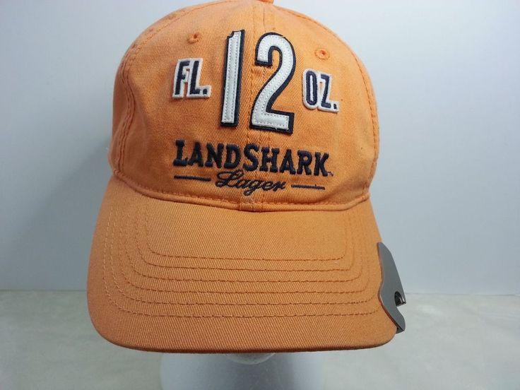 Landshark Lager Beer Hat Built In Bottle Opener Baseball