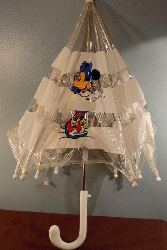 Vintage Disney Mickey And Minnie Children S Umbrella Vintage Disney Childrens Umbrellas Disney Mickey