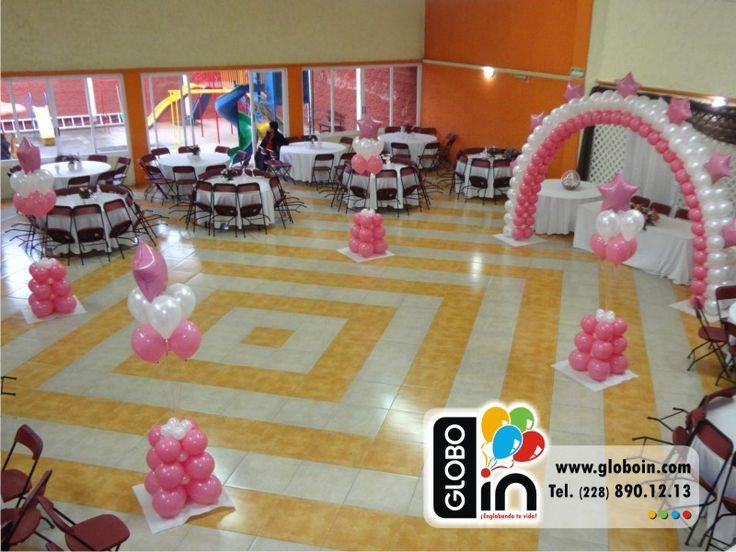 Decoraci n con globos para xv a os 15 a os pinterest for Decoracion salon xv anos