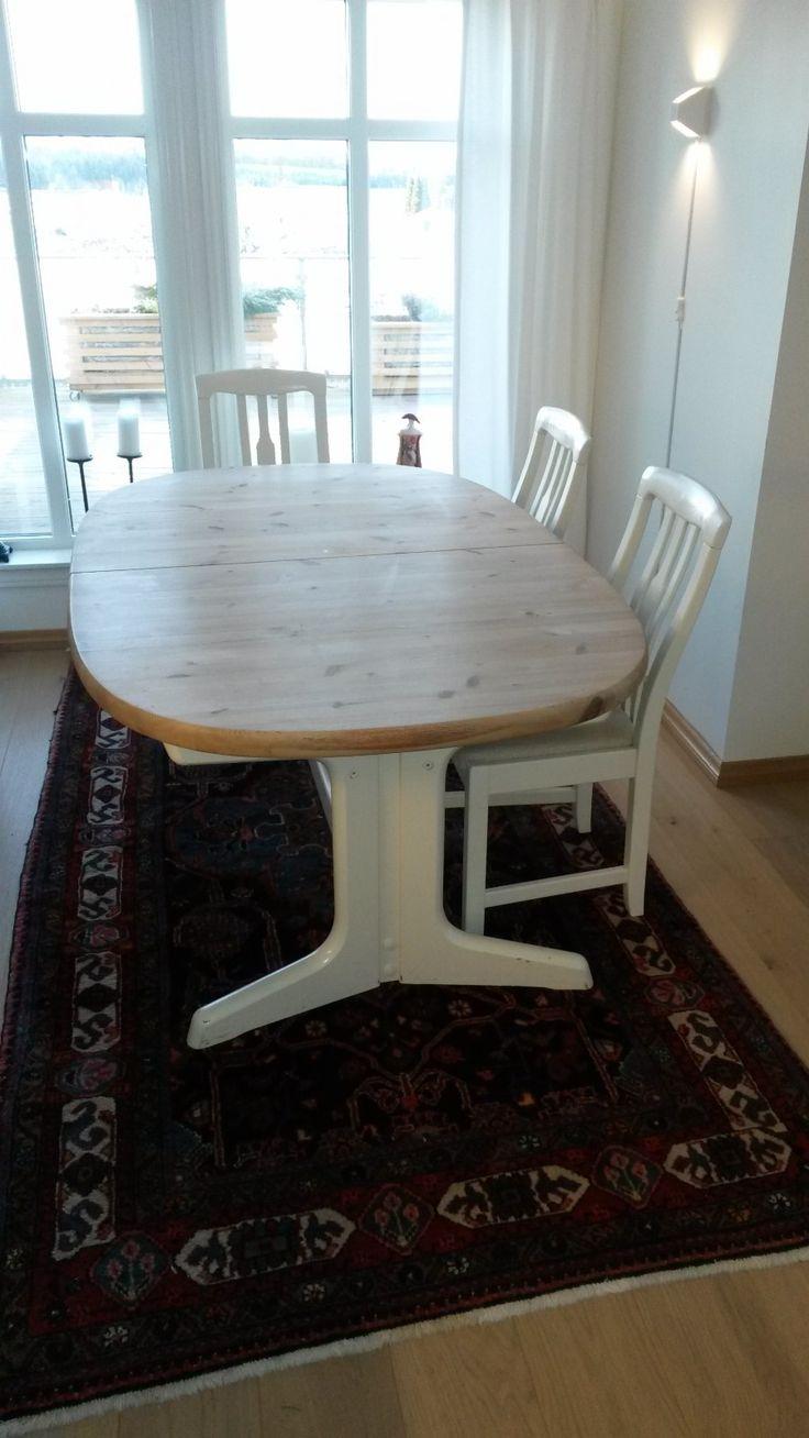 FINN – Spisestue i furu m/6 stoler. #Dining #Table #Scandinavian design