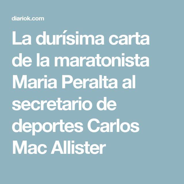 La durísima carta de la maratonista Maria Peralta al secretario de deportes Carlos Mac Allister