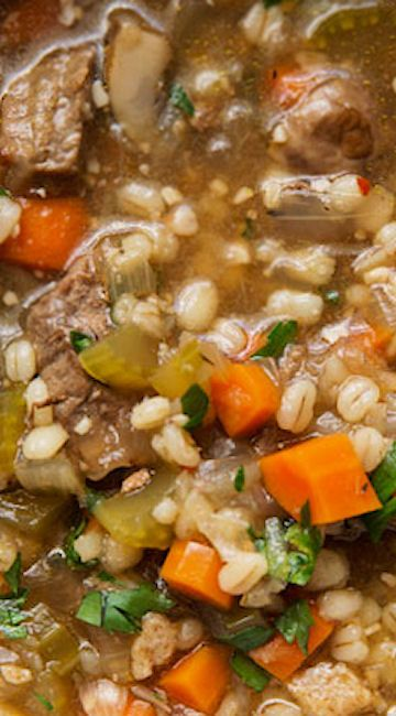 how to prepare barley for soup