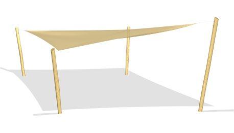 Dragon Sunshade with posts - NRO208 - Playground accessories and park furniture - Playground Equipment - KOMPAN