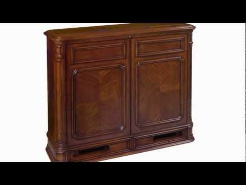 Crystal Pointe TV Lift Cabinet with built-in 360 degree electric swivel. This allows you to conceal your TV when not in use and swivel it to the desired angle when in use.    Great for a bedroom as is can face your headboard and be angled to the seating in the room!