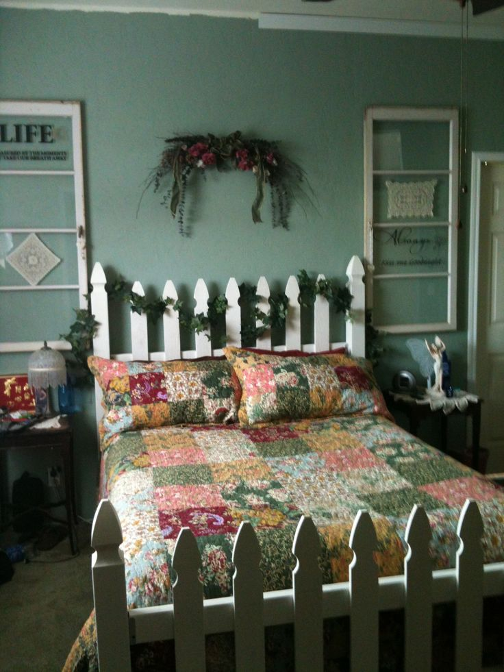 picket fence bed, cheap and easy to make