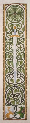 Gaelic Banner cross stitch bookmark